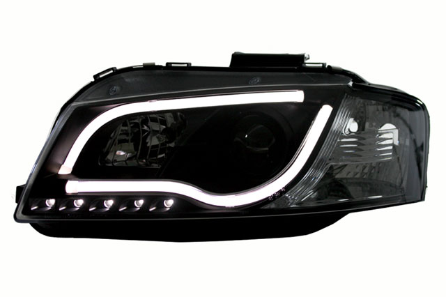 scheinwerfer light tube audi a3 8p bj 03 08 schwarz a3. Black Bedroom Furniture Sets. Home Design Ideas
