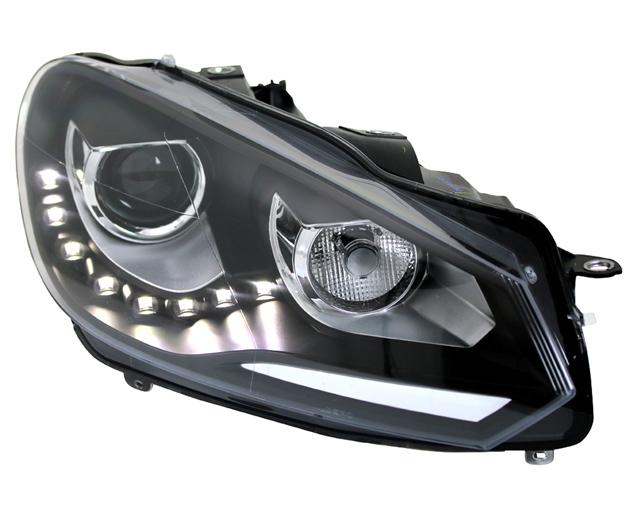 golf 6 vw scheinwerfer drl scheinwerfer ak. Black Bedroom Furniture Sets. Home Design Ideas