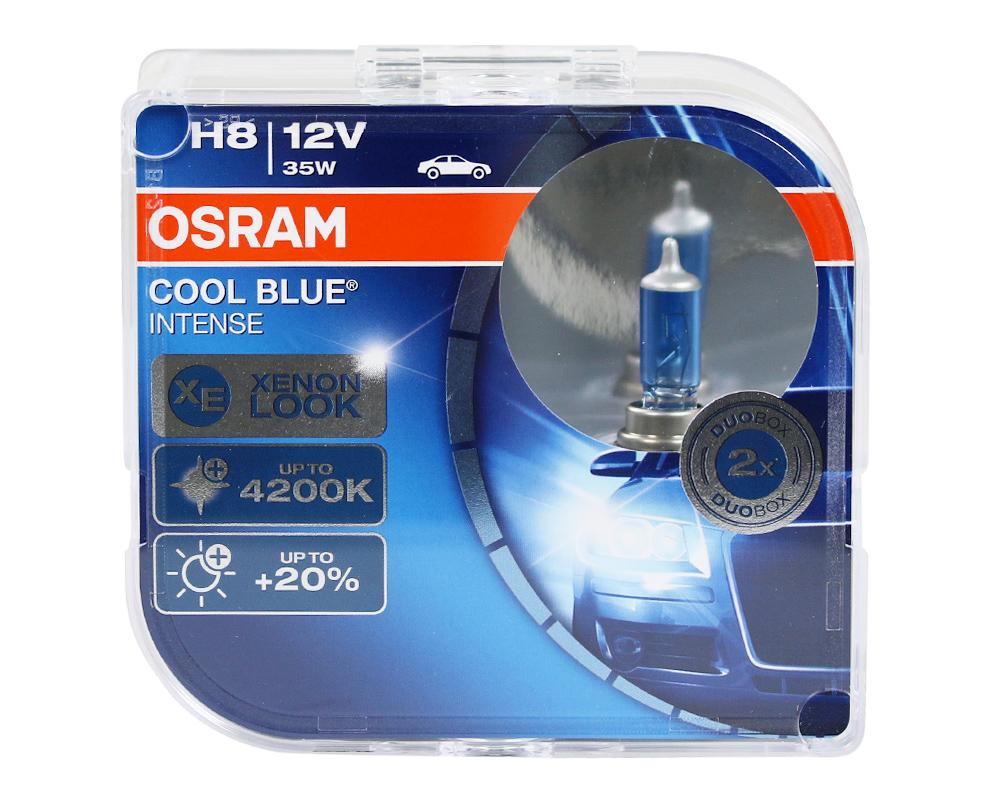 osram duo box gl hlampe cool blue intense h8 35w h8 leuchtmittel halogen beleuchtung ak. Black Bedroom Furniture Sets. Home Design Ideas