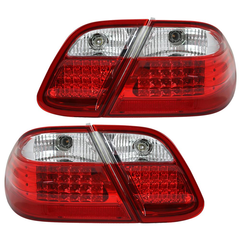 LED Rückleuchten Set Rot Smoke für Mercedes CLK W208 Coupe Cabrio Heckleuchten