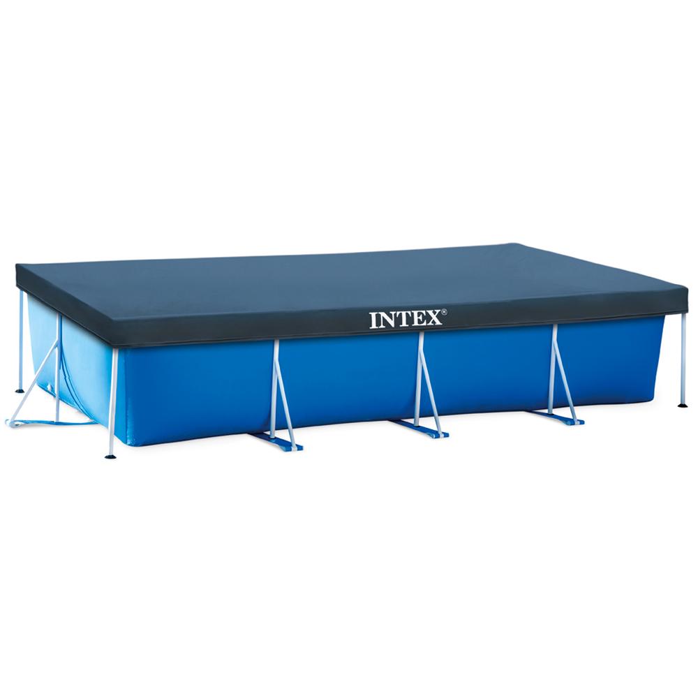 Intex abdeckplane rechteck frame pool 300x200cm for Rechteck pool zum aufstellen