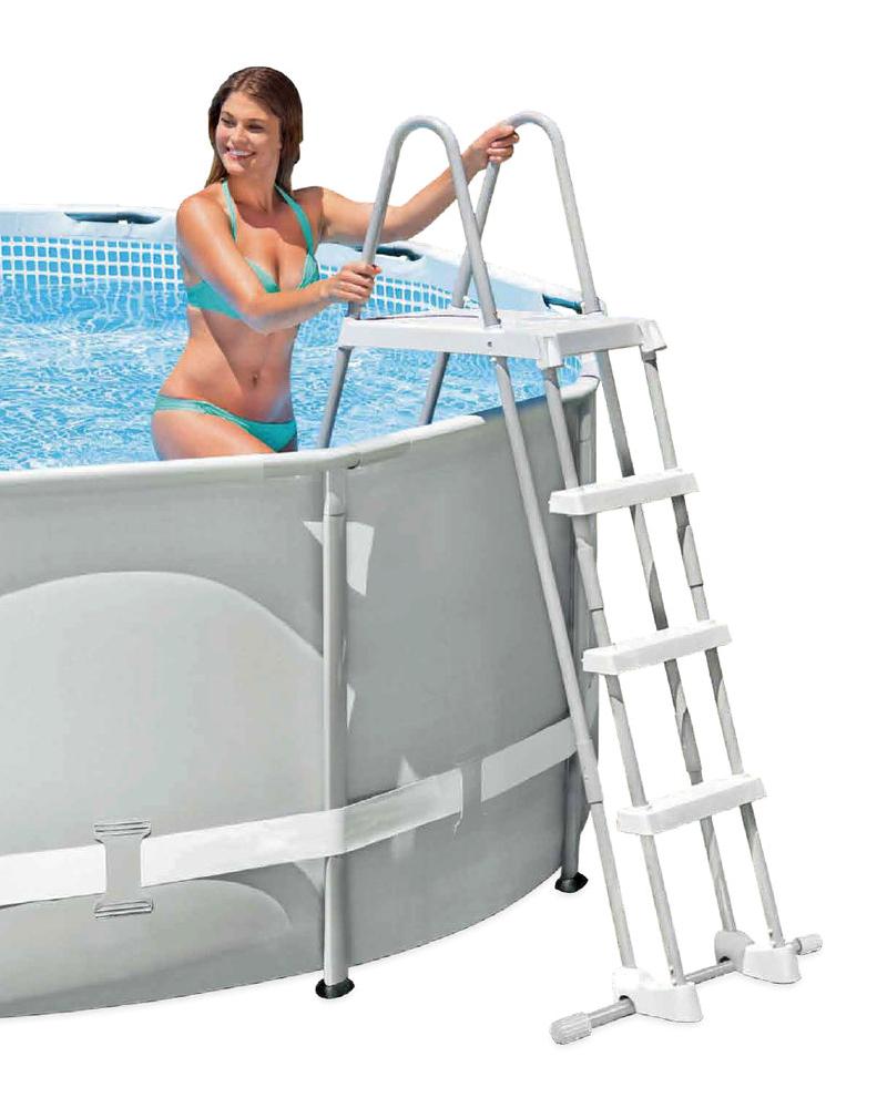 intex sicherheitsleiter plattform 122cm pool leiter einstiegsleiter badeleiter ebay. Black Bedroom Furniture Sets. Home Design Ideas