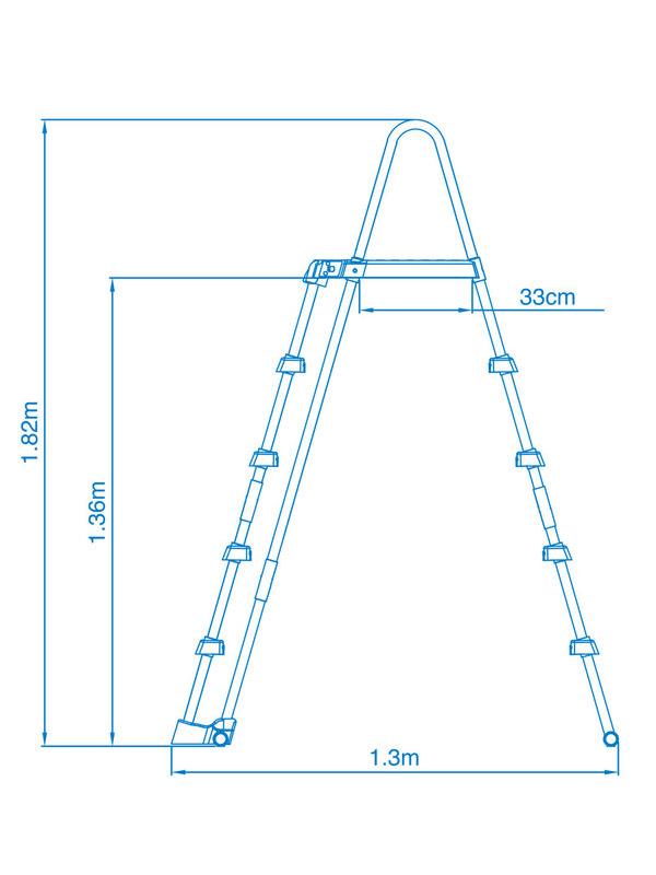 intex sicherheitsleiter mit plattform 122 132cm pool leiter einstiegsleiter. Black Bedroom Furniture Sets. Home Design Ideas