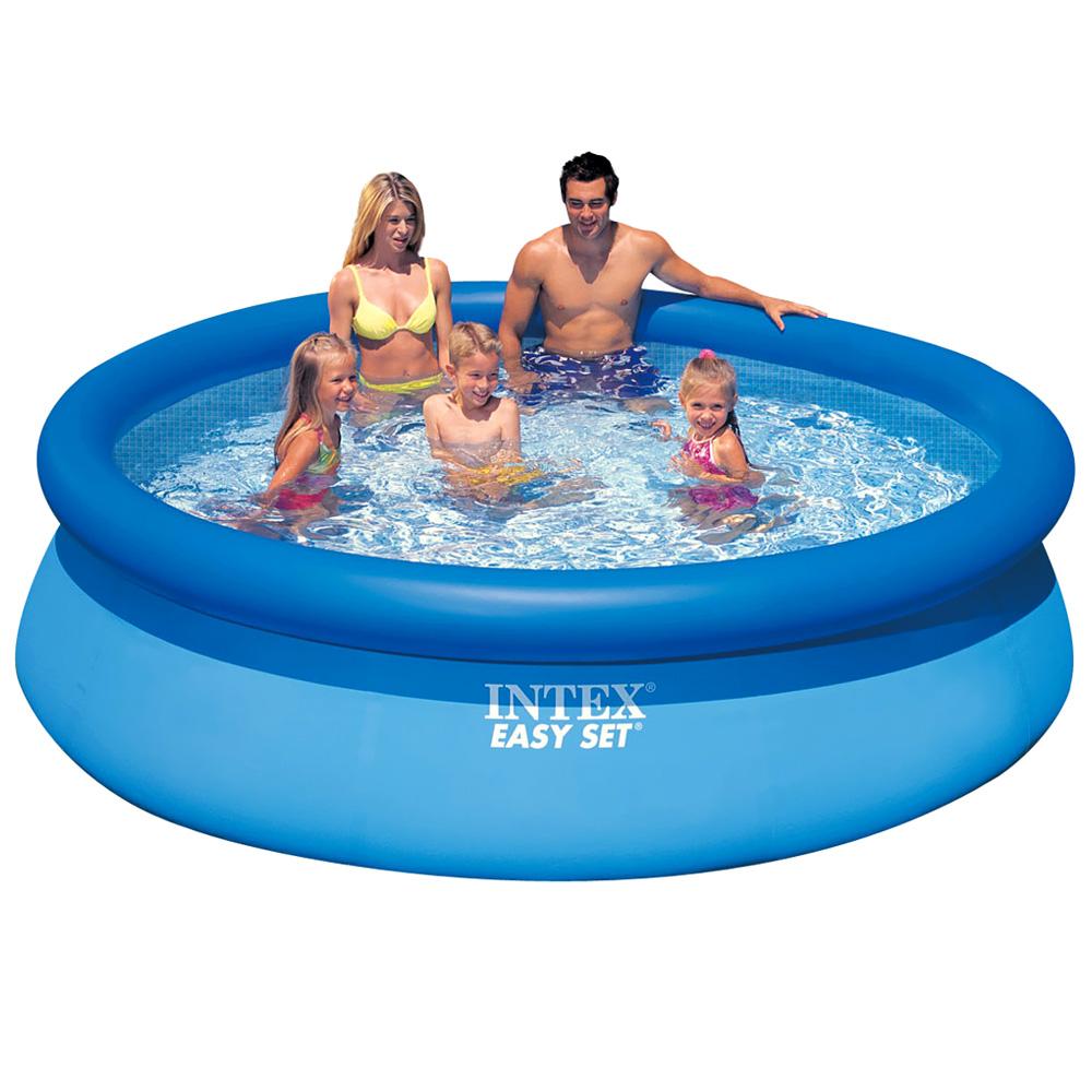 intex easy quick up pool swimming 396x84cm schwimmbecken. Black Bedroom Furniture Sets. Home Design Ideas