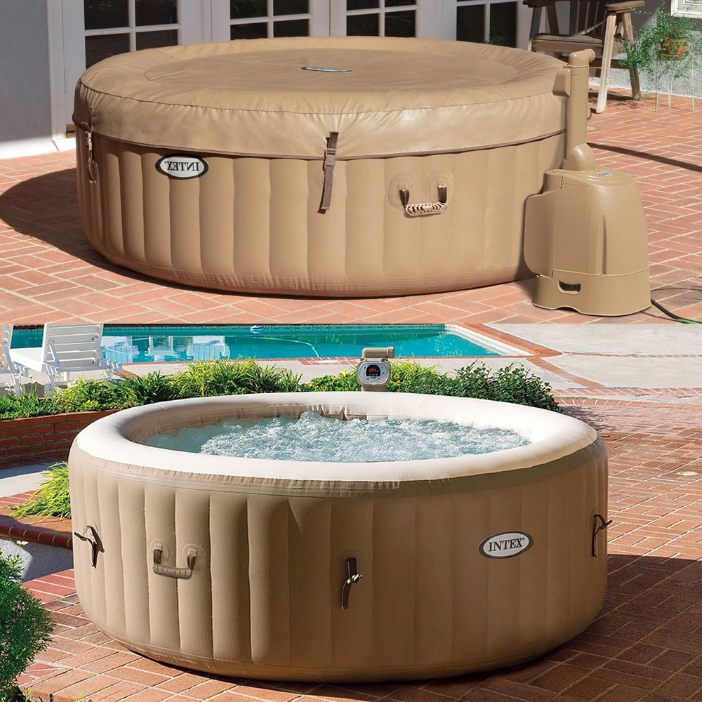intex whirlpool jacuzzi pure spa 196x71 bubble massage f r 4 personen kalkschutz ebay. Black Bedroom Furniture Sets. Home Design Ideas