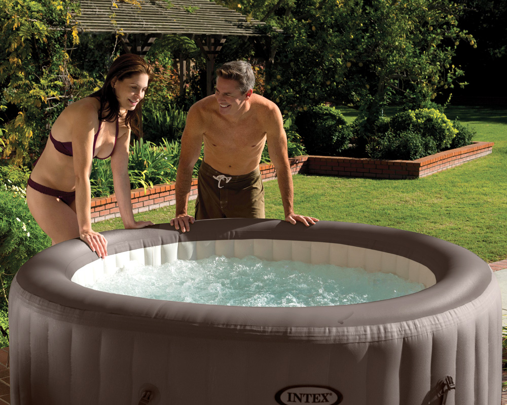 intex whirlpool pure spa 196x71 jet massage f r 4 personen kalkschutzsystem ebay. Black Bedroom Furniture Sets. Home Design Ideas
