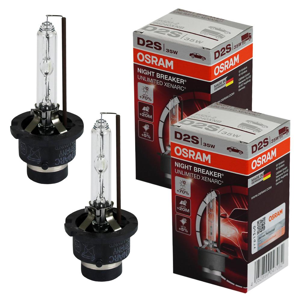 2 x osram d2s 35w night breaker unlimited xenon brenner 66240xnb 70 mehr licht ebay. Black Bedroom Furniture Sets. Home Design Ideas