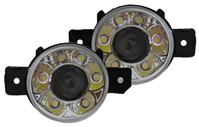 nissan qashqai 07 front fog lights set de lens drl daytime. Black Bedroom Furniture Sets. Home Design Ideas