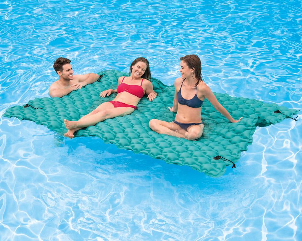INTEX XXL Schwimmliege Luftmatratze Badeinsel Wasserliege Poolliege ...