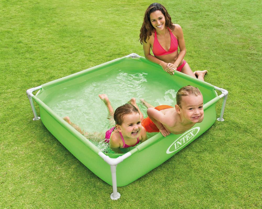 intex frame babypool kinderpool 122x122x30cm swimmingpool planschbecken gr n ebay. Black Bedroom Furniture Sets. Home Design Ideas
