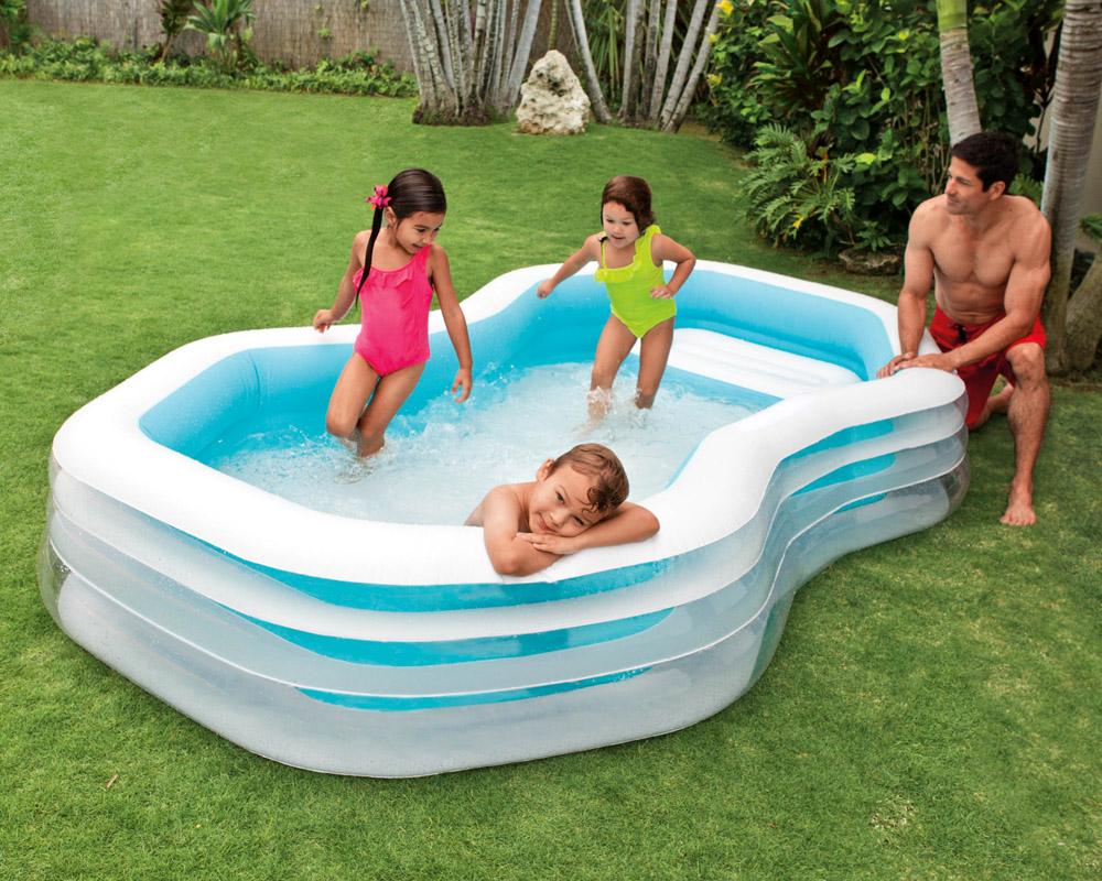 Intex swim center cabana 310x188x130cm swimming pool planschbecken kinderpool ebay - Intex swim center family pool ...