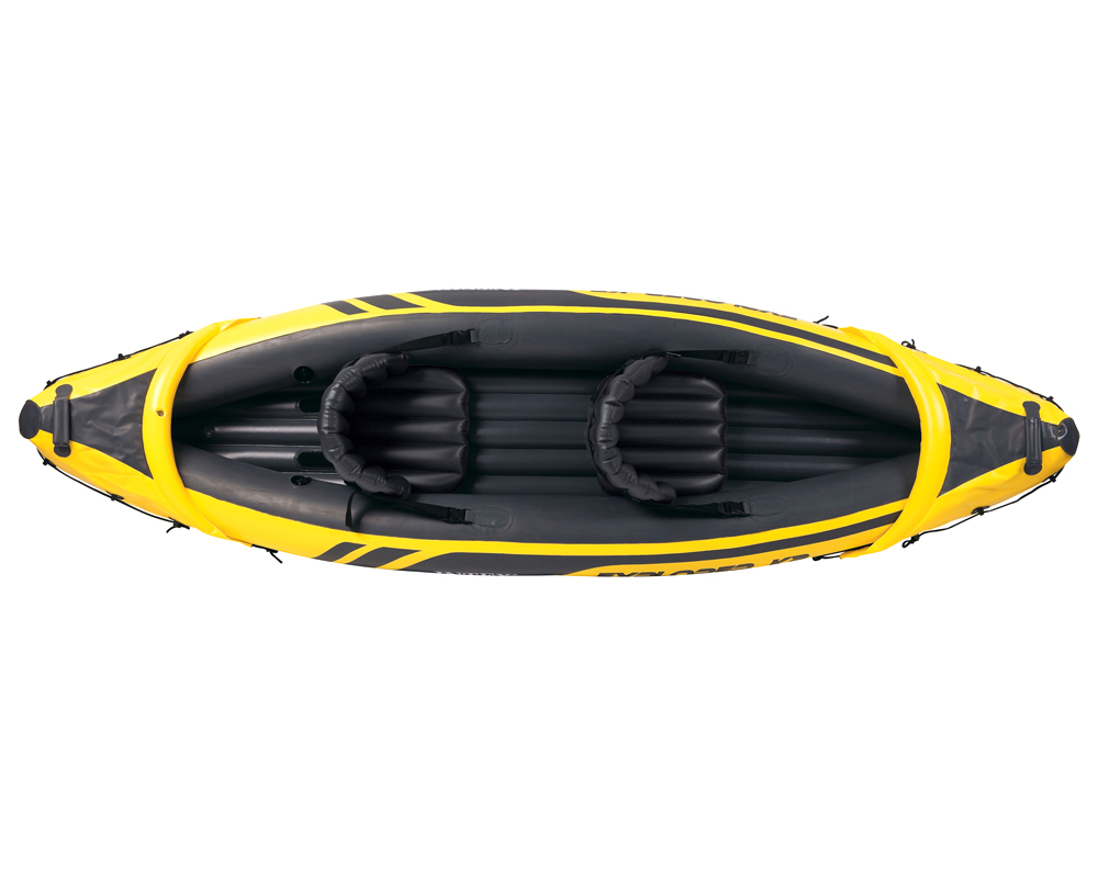 intex explorer k2 kajak set schlauchboot paddel pumpe. Black Bedroom Furniture Sets. Home Design Ideas