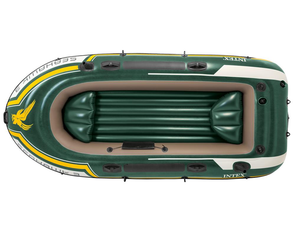INTEX Seahawk 3 Set Schlauchboot Paddel Pumpe Angelboot Ruderboot 3 Personen