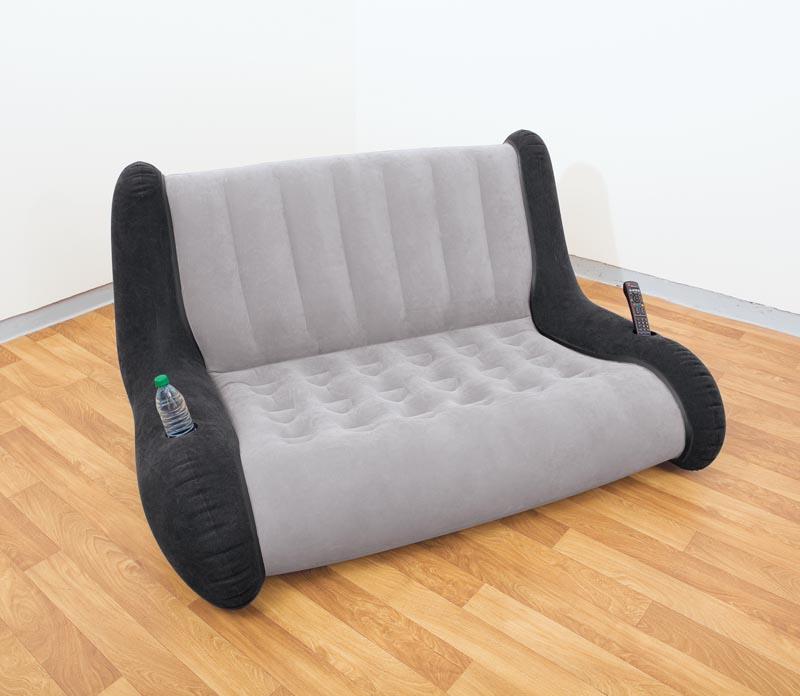 Intex lounge relax sofa couch luftbett aufblasbar f r for Couch aufblasbar