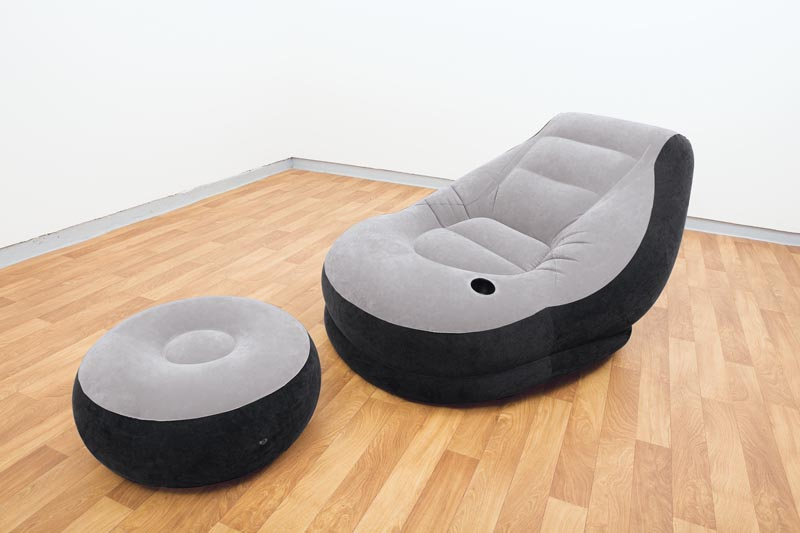 Intex Fernseh Sofa Lounge Aufblasbarer Sessel Inkl Ottomane
