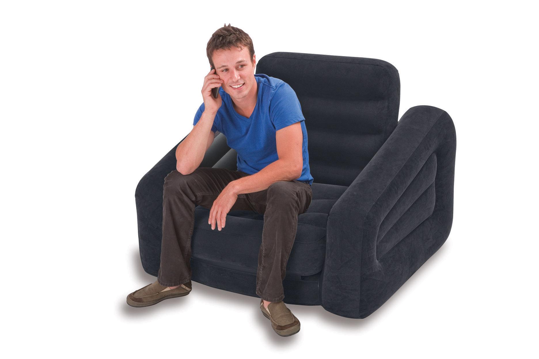 intex lounge couch sessel ausziehbar camping luftbett g stebett fernsehsessel ebay. Black Bedroom Furniture Sets. Home Design Ideas