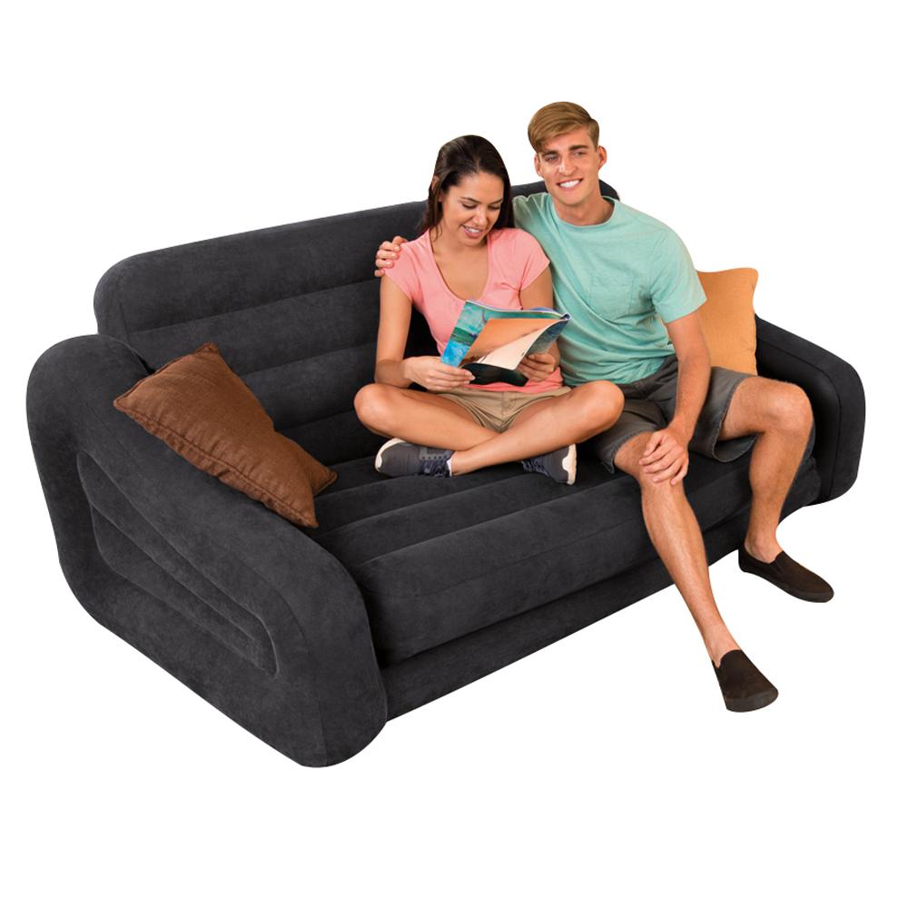 intex sofa lounge couch ausziehbar luftbett g stebett bett schlafsofa ebay. Black Bedroom Furniture Sets. Home Design Ideas