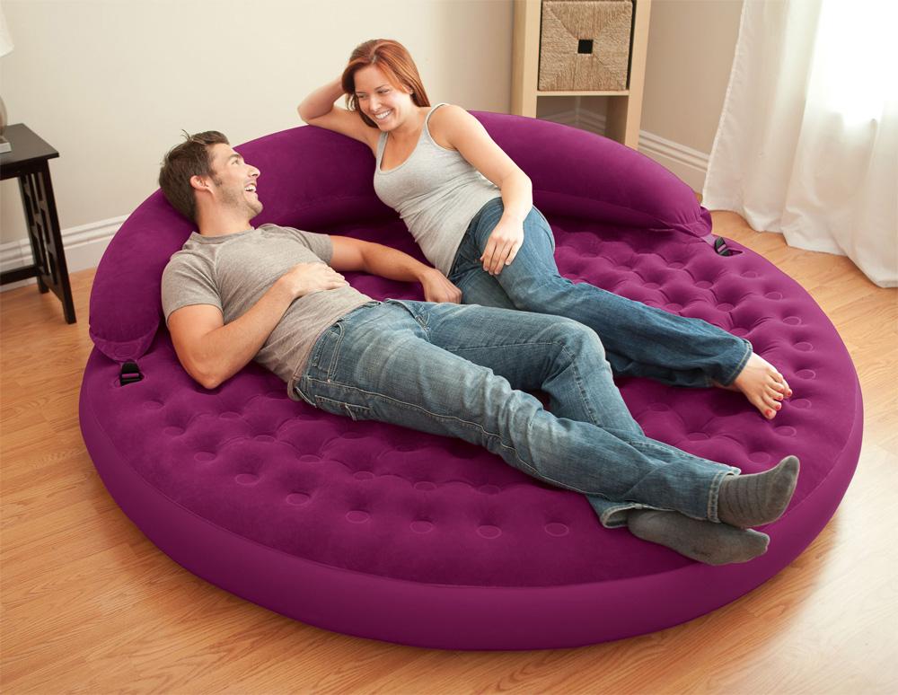 Intex relax ultra lounge sofa couch luftbett aufblasbar f r camping outdoor ebay Sofa aufblasbar