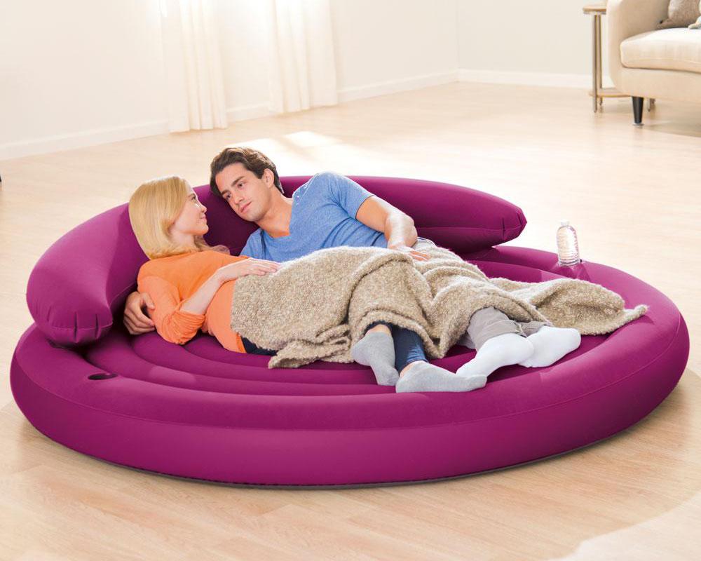 Intex relax ultra lounge sofa couch luftbett aufblasbar for Couch aufblasbar