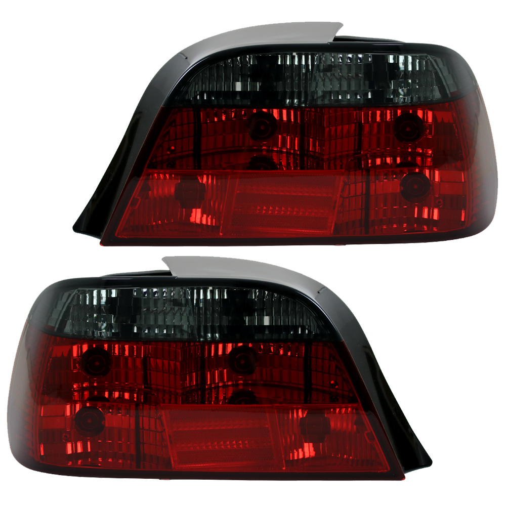 94-01 Rot//Chrom Rückleuchten Klarglas Heckleuchten BMW E38 Limo Bj