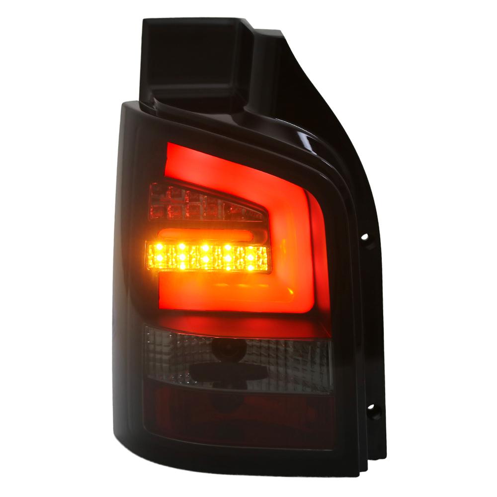 LED RÜCKLEUCHTEN für VW T6 ab 2015 mit 2 HECKTÜREN SCHWARZ BLACK SMOKE LIGHTBAR