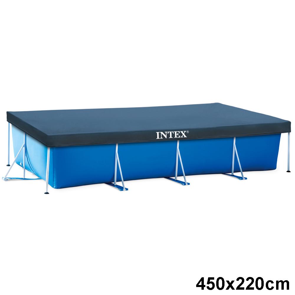 intex abdeckplane rechteck frame pool poolabdeckung poolabdeckplane ebay. Black Bedroom Furniture Sets. Home Design Ideas