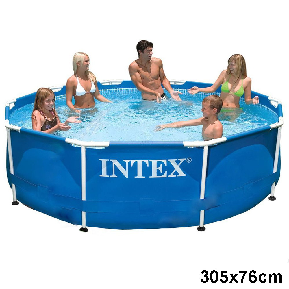 Intex frame pool swimming pool auch mit pumpe for Pool aufblasbar mit pumpe