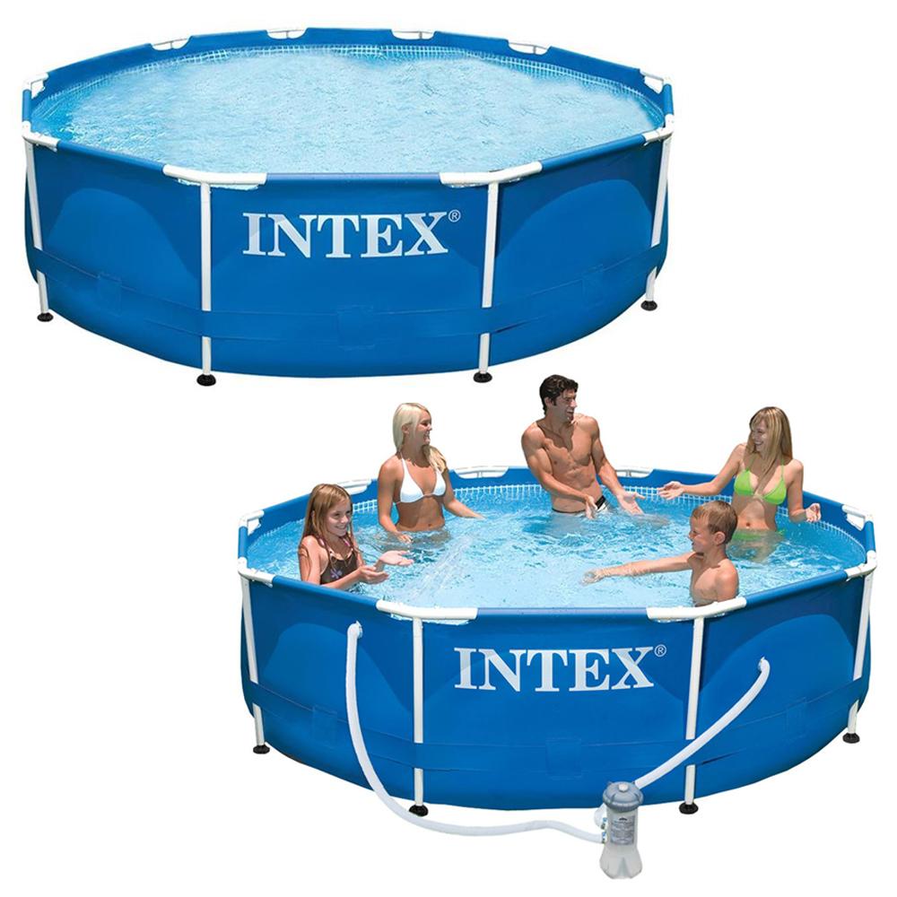 intex frame pool swimming pool auch mit pumpe. Black Bedroom Furniture Sets. Home Design Ideas