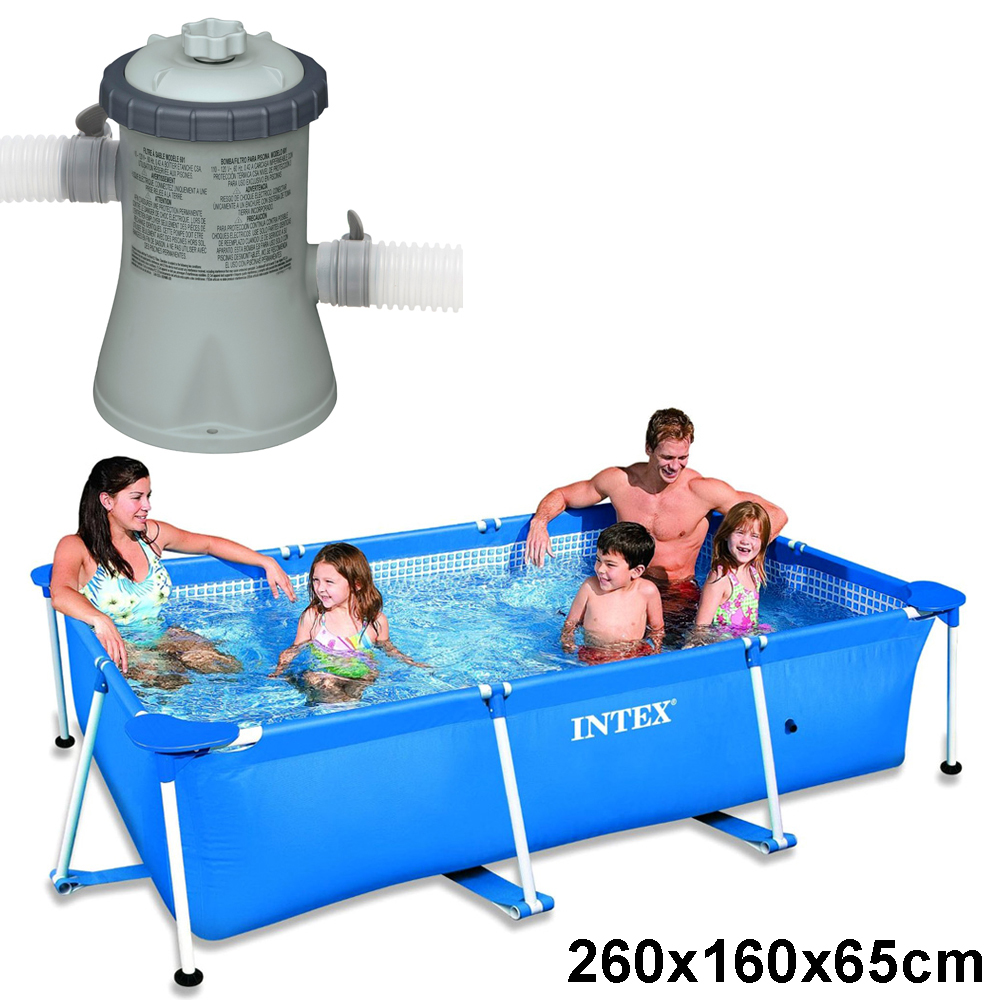 intex schwimmbecken komplett set family swimming pool. Black Bedroom Furniture Sets. Home Design Ideas