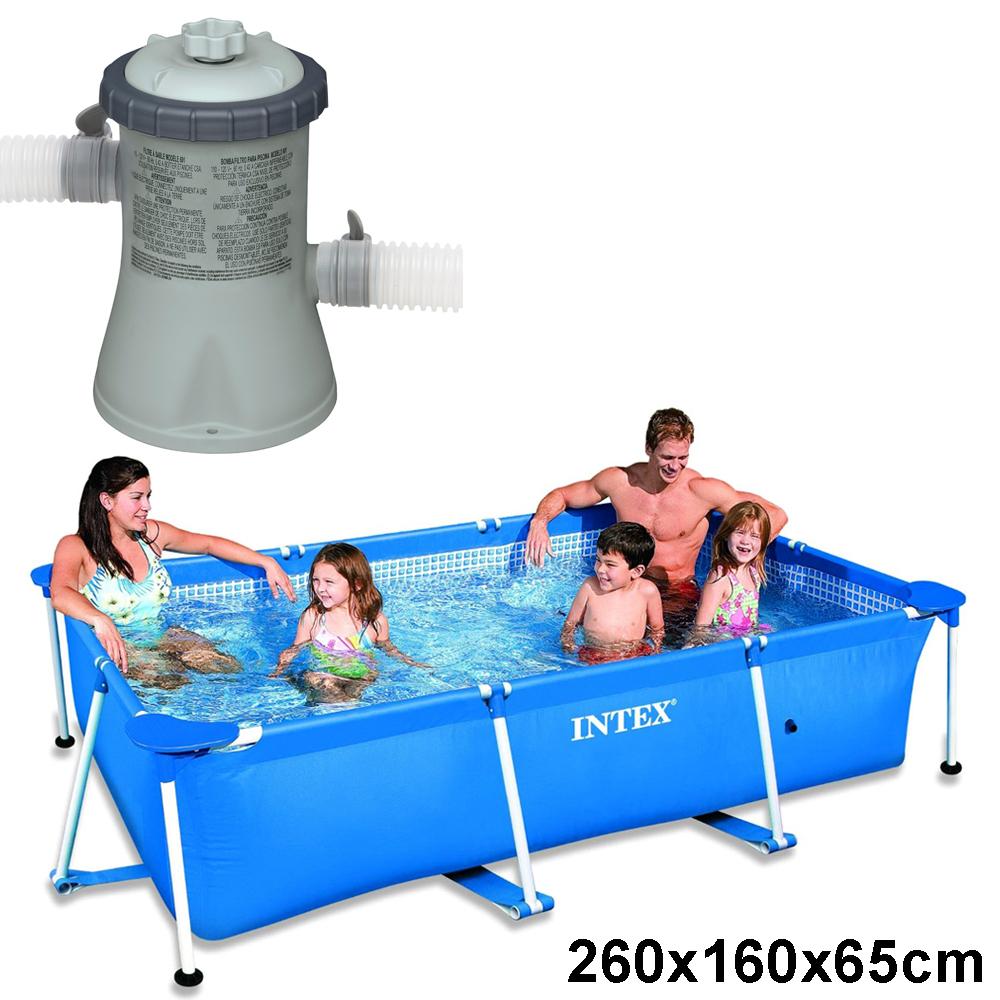 Intex schwimmbecken komplett set family swimming pool for Garten pool komplett set