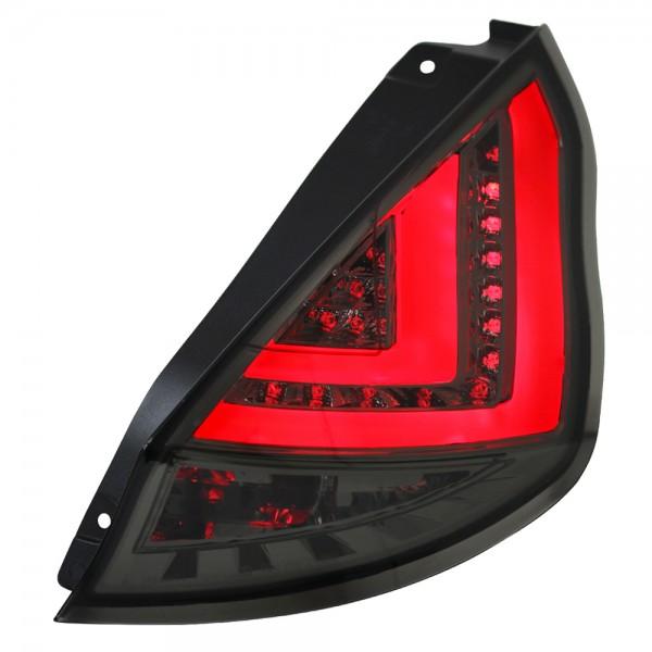 LED Lightbar Rückleuchten Ford Fiesta MK7 3/5 Türer Bj. 13-15 Smoke/Schwarz