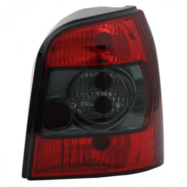 Rückleuchten Klarglas für Audi A4 B5 Avant Bj. 95-01 Rot/Schwarz