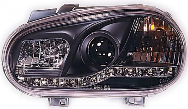 Scheinwerfer DRL Tagfahrlicht für VW Golf 4 Bj. 97-03 Schwarz