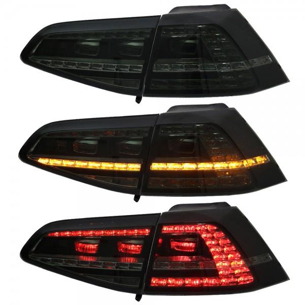 LED Rückleuchten für VW Golf 7 VII Bj. 2013- Schwarz/Smoke