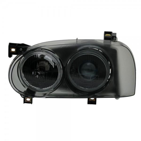 Doppellinsen Scheinwerfer Projektor für VW Golf 3 Bj. 1991-1997 Smoke