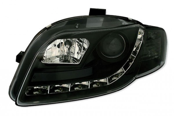 Scheinwerfer Tagfahrlicht Optik für Audi A4 B7 04-07 Schwarz