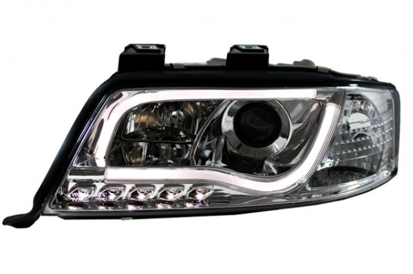Scheinwerfer Light Tube Audi A6 4B C5 Bj. 01-04 Chrom