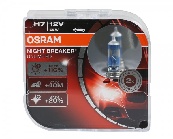Osram Duo Box Glühlampe Night Breaker Unlimited H7 55W