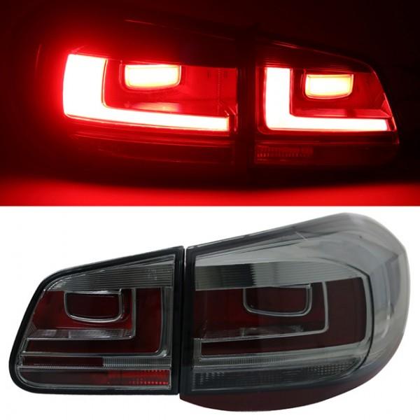 LED Lightbar Rückleuchten für VW Tiguan 5N Bj. 07-11 Smoke
