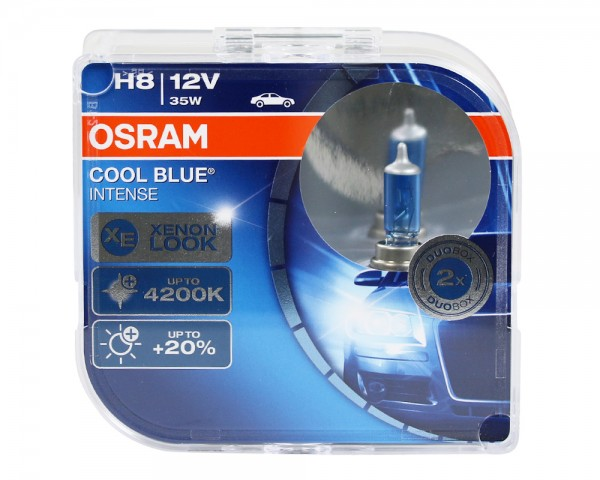 OSRAM Duo Box Glühlampe Cool Blue Intense H8 35W