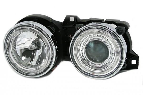 Scheinwerfer Angel Eyes BMW E30 Bj. 82-94 Chrom