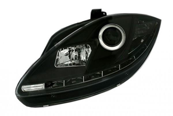 Scheinwerfer DRL Tagfahrlicht Seat Leon 1P Facelift 09- Schwarz