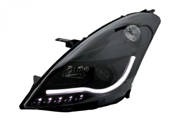 Scheinwerfer Light Tube Suzuki Swift Bj. 2010- Schwarz