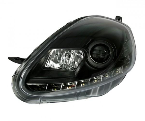 Scheinwerfer Tagfahrlicht Optik Fiat Grande Punto 08-09 Schwarz