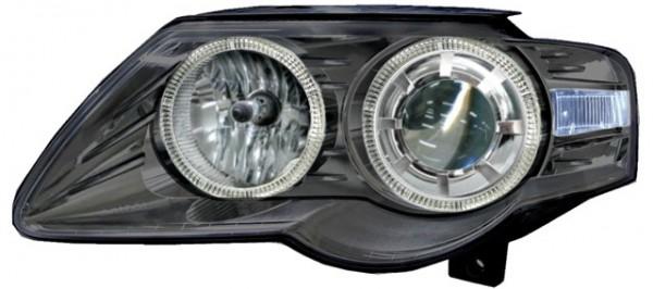 Scheinwerfer Angel Eyes für VW Passat 3C Bj. 05-10 Schwarz