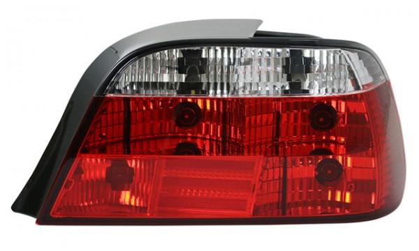 Rückleuchten Klarglas für BMW E38 Bj. 94-01 Rot/Chrom