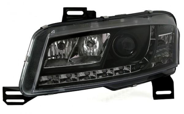 Scheinwerfer Tagfahrlicht Optik Fiat Stilo Bj. 01-08 Schwarz