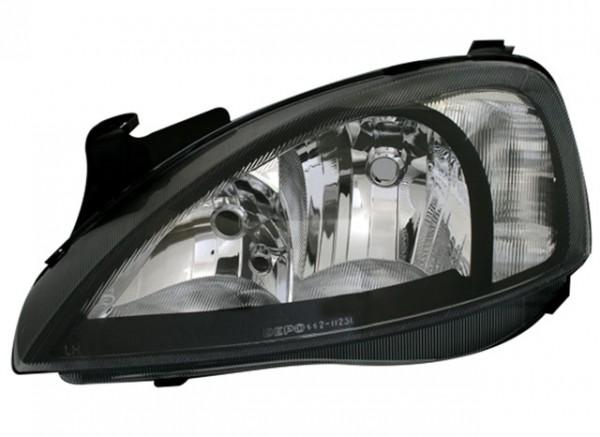 Scheinwerfer Klarglas Opel Corsa C Bj. 00-06 Schwarz
