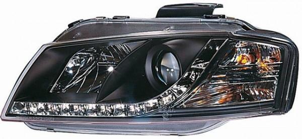 Scheinwerfer DRL Tagfahrlicht für Audi A3 8P Bj. 03-08 Schwarz