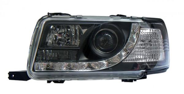 Scheinwerfer Tagfahrlicht Optik Audi 80 B4 Bj. 91-94 Schwarz
